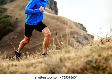 mountain marathon running uphill athlete men runner