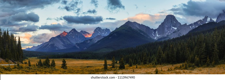 Mountain Meadow in the Canadian Rocky mountains in Kananaskis, Alberta