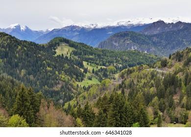 Mountain meadows below Monte Tremalzo, Lago di Garda region, Italy, 7th May 2017