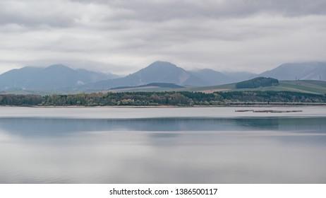 Mountain miroring on water in Liptov