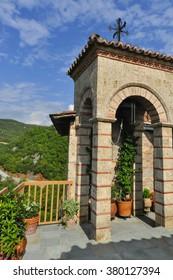 In a mountain monastery