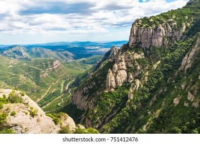 The Mountain of Montserrat in a sunny day, Catalonia, Spain