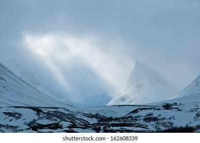 Mountain Nallo, Kebnekaisefjaell, Norrbotten, Lapland, Sweden