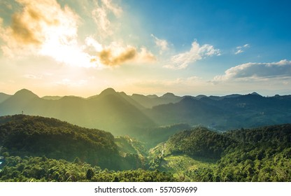 Mountain with nature