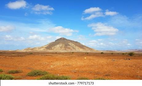Mountain on the island of Boa Vista, Cape Verde