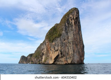 Mountain on the sea is interesting places in South of Thailand.