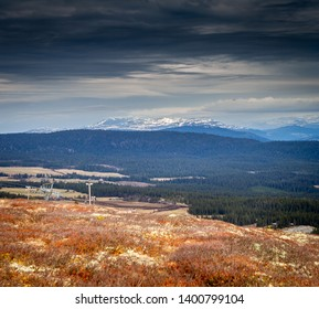 Mountain of Oppland in Norway