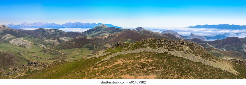 Mountain Palentina and Europa peaks montain. Spain
