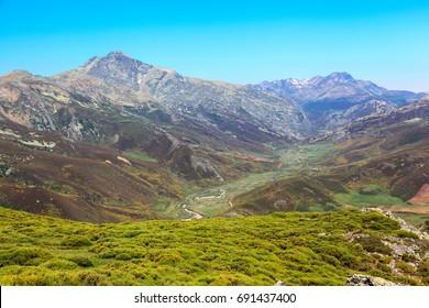 Mountain Palentina. Spain. Pineda Valley.