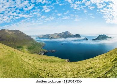 Mountain panorama, Faroe Islands