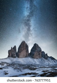 Mountain panorama in the Italy at the night time. Beautiful natural landscape in the Italy mountain