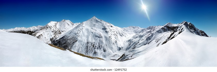 mountain panorama in la norma, france