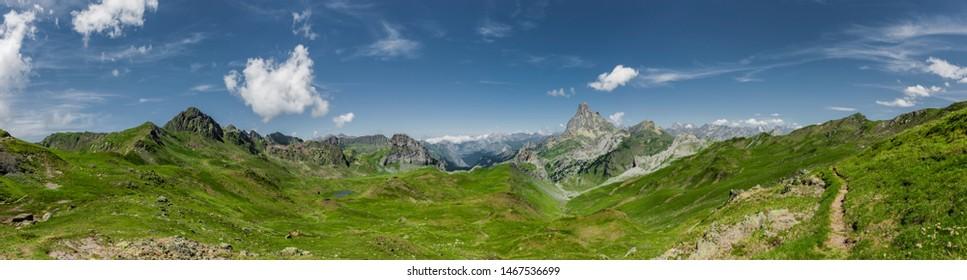 Mountain panorama Pyrenees National Park summer