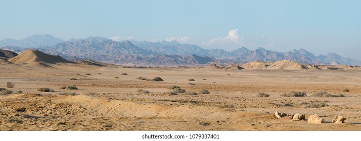 Mountain panorama in Ras Mohamed, Egypt, South Sinai