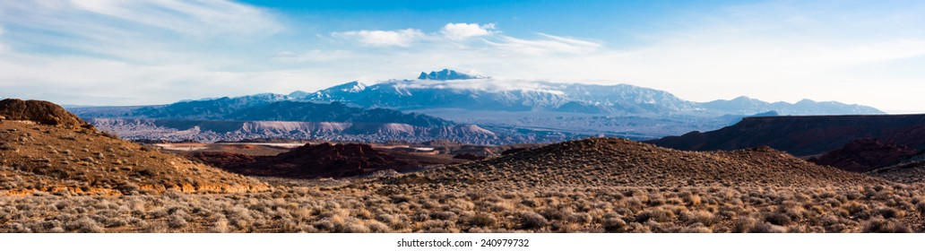 Mountain Panorama from Valley of Fire State Park, Nevada