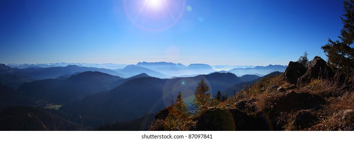 Mountain Panoramic of Bavaria and Austria