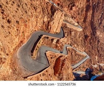 Mountain pass in Dades Gorges,  Atlas Mountains, Morocco