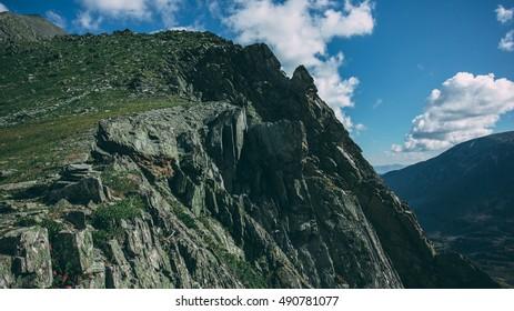 Mountain pass Kuyguk near Mongolia, Altai, Russia