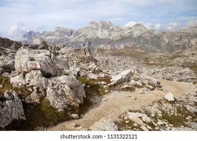 Mountain path in Dolomites