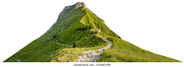 Mountain path isolated on white background - Shutterstock ID 1742607509
