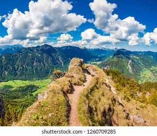 Mountain path at Laber - Oberammergau - Bavaria - Germany