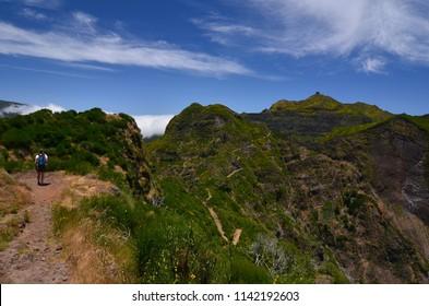 Mountain path on the Madeira Island