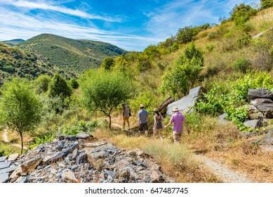 Mountain path in Parque Arqueolgico do Vale do Coa (Archaeological Park of the Coa Valley), Portugal