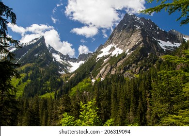 Mountain Peaks in the Cascade Range in Washington State