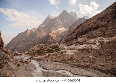 Mountain peaks in French Alps, Ecrins, France
