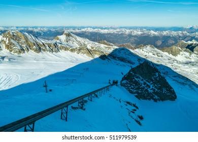 Mountain peaks, kaprun, kitzsteinhorn, Zell am See, Austria, Europe