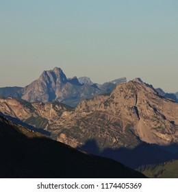 Mountain Peaks seen from Mount Niesen, Switzerland. Dent du Ruth.