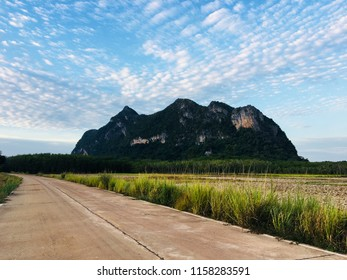 Mountain in Phatthalung province and Middle of phatthalung city