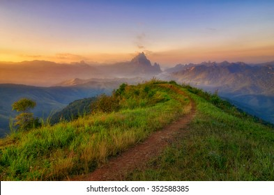 Mountain at Phou Khoun  in Laos