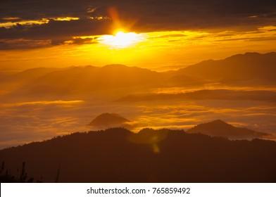 Mountain at Phu Chi Fa, Chiang Rai, Thailand