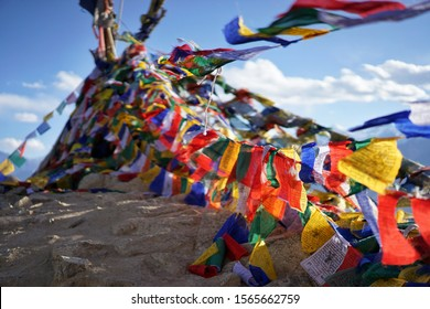 Mountain prayer flags leh ladakh