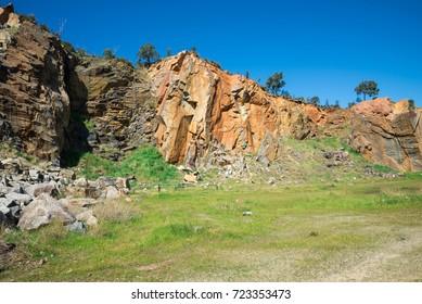 Mountain quarry rocks in Greenmount National park, Western Australia