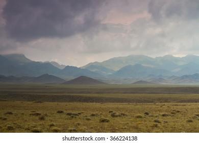 Mountain range in Almaty region - Kazakhstan