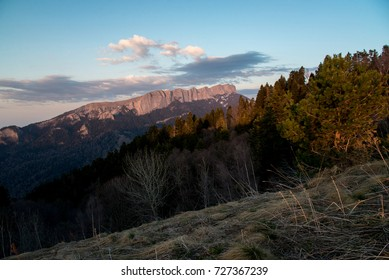 The mountain range of the Big Thach natural park. Adygea