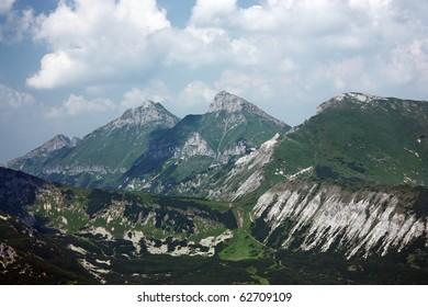 Mountain range in Carpathians in Slovakia