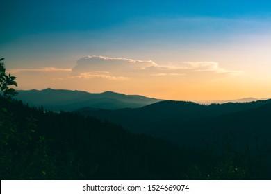 Mountain range in Coeur d'Alene Idaho