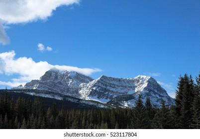 Mountain Range in Kootenay, Canadian Rockies