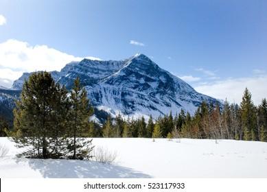 Mountain Range in Kootenay, Storm Mountain, Canadian Rockies