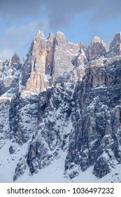 Mountain range in Lastoni di Formin, Dolomites, Italy
