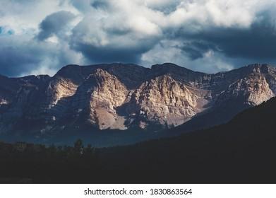 Mountain range near Barcelona, Spain