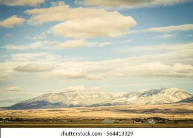 Mountain range on the edge of Bozeman, Montana