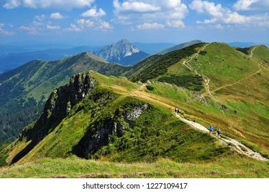 Mountain range panorama of Mala Fatra, Slovakia