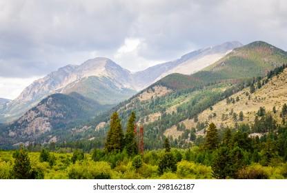 Mountain Range at Rocky Mountain National Park