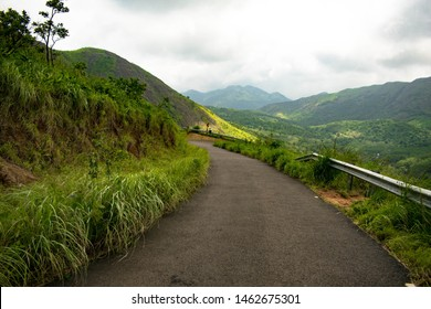 Mountain ranges in the Western Ghats depicting the beauty of Kerala. Landscape in Idukki district of Kerala. Lush green mountains creates the serene atmosphere for relaxing troubled mind in an instant