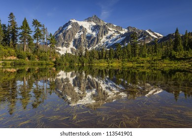 Mountain reflection by the lake
