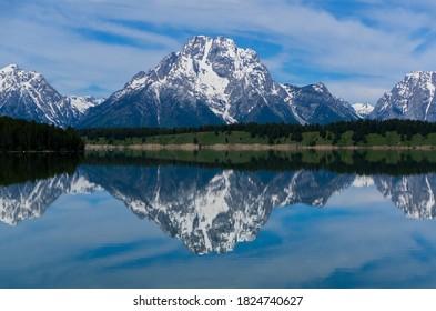 Mountain Reflection At Grand Teton National Park
